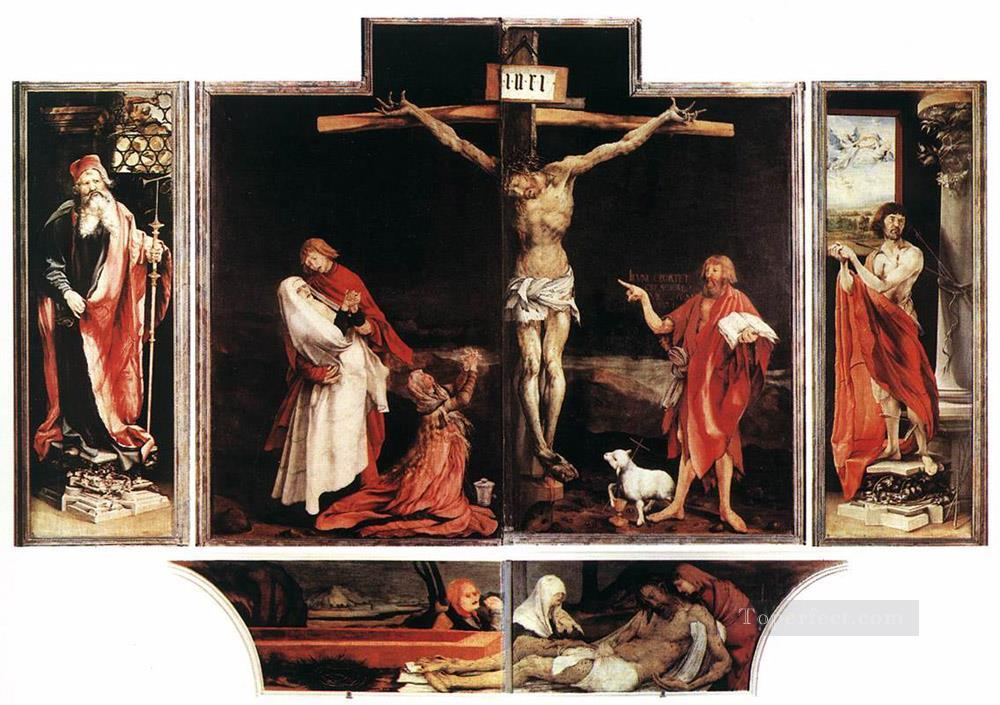 Isenheim Altarpiece first view Renaissance Matthias Grunewald Oil Paintings